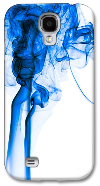Angels Smoking Galaxy S4 Cases - Mood Colored Abstract Vertical Deep Blue Smoke Art 01 Galaxy S4 Case by Alexandra K