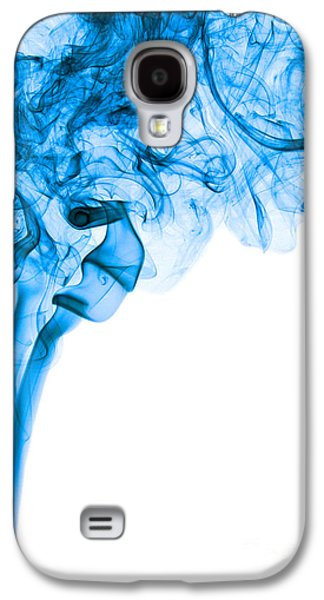 Angels Smoking Galaxy S4 Cases - Abstract Vertical Deep Blue Mood Colored Smoke Art 03 Galaxy S4 Case by Alexandra K