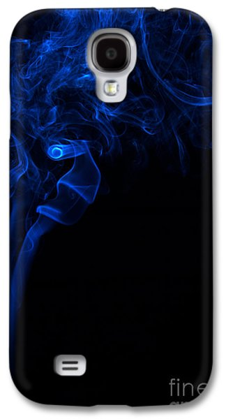 Angels Smoking Galaxy S4 Cases - Abstract Vertical Paris Blue Mood Colored Smoke Art 01 Galaxy S4 Case by Alexandra K
