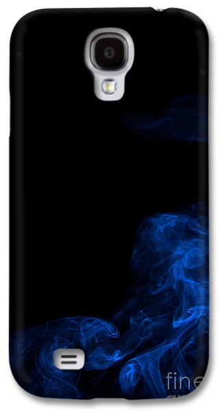 Angels Smoking Galaxy S4 Cases - Abstract Vertical Paris Blue Mood Colored Smoke Art 02 Galaxy S4 Case by Alexandra K