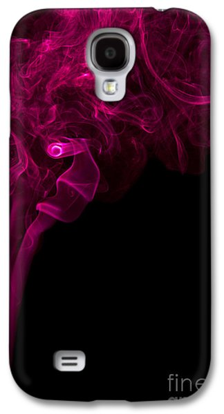Angels Smoking Galaxy S4 Cases - Mood Colored Abstract Vertical Purple Smoke Wall Art 01 Galaxy S4 Case by Alexandra K