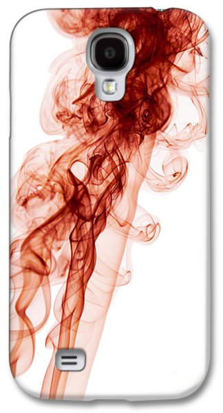 Angels Smoking Galaxy S4 Cases - Abstract Vertical Blood Red Mood Colored Smoke Wall Art 03 Galaxy S4 Case by Alexandra K