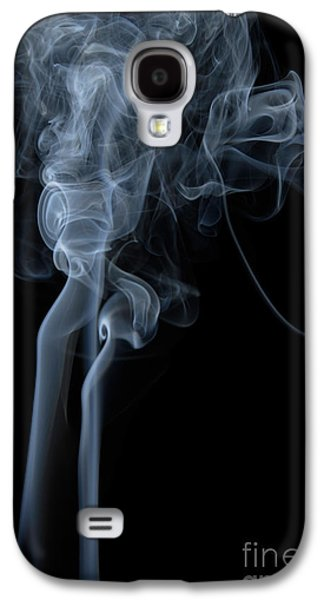 Angels Smoking Galaxy S4 Cases - Abstract Vertical White Mood Colored Smoke Wall Art 02 Galaxy S4 Case by Alexandra K