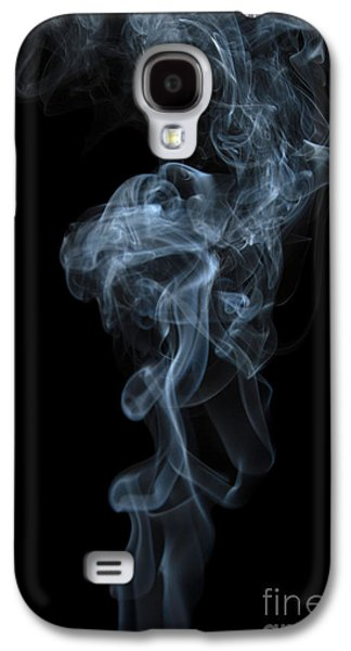 Angels Smoking Galaxy S4 Cases - Abstract Vertical White Mood Colored Smoke Wall Art 03 Galaxy S4 Case by Alexandra K