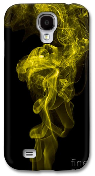 Angels Smoking Galaxy S4 Cases - Mood Colored Abstract Vertical Yellow Smoke Wall Art 01 Galaxy S4 Case by Alexandra K