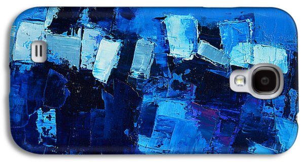 Mood Paintings Galaxy S4 Cases - Mood in Blue Galaxy S4 Case by Elise Palmigiani