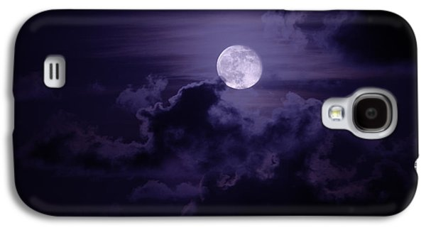 Moody Photographs Galaxy S4 Cases - Moody Moon Galaxy S4 Case by Chad Dutson