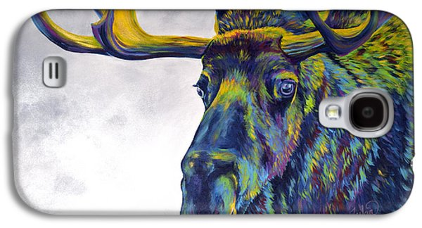 Sell Paintings Galaxy S4 Cases - Moody Moose Galaxy S4 Case by Teshia Art