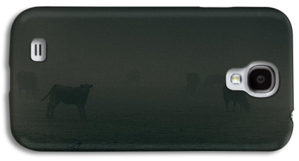 Agricultural Galaxy S4 Cases - Mooing in the mist Galaxy S4 Case by Chris Fletcher