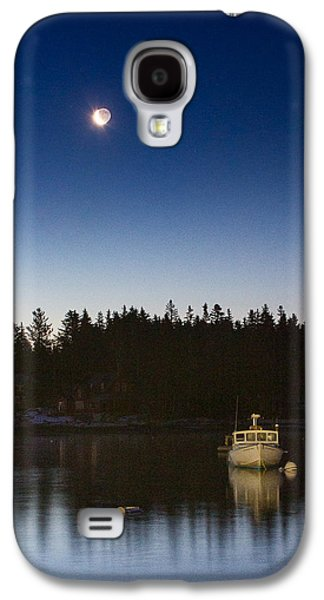 Midcoast Galaxy S4 Cases - Moon and Venus over Five Islands Galaxy S4 Case by Benjamin Williamson