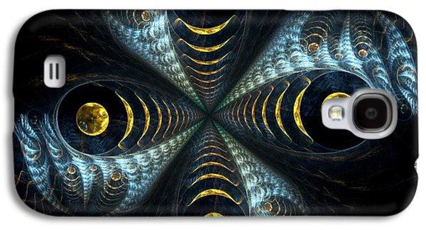 Feather Galaxy S4 Cases - Moon Cross Galaxy S4 Case by Anastasiya Malakhova