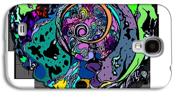 Abstract Digital Drawings Galaxy S4 Cases - Moon Disguise  Galaxy S4 Case by Carly Anderson