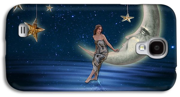 Abstract Digital Galaxy S4 Cases - Moon Goddess Galaxy S4 Case by Juli Scalzi