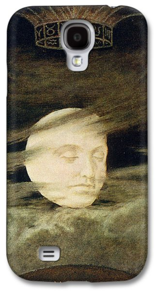 Man In The Moon Galaxy S4 Cases - Moon Galaxy S4 Case by Hans Thoma