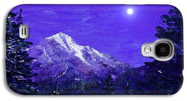 Landscape Digital Art Galaxy S4 Cases - Moon Mountain Galaxy S4 Case by Anastasiya Malakhova