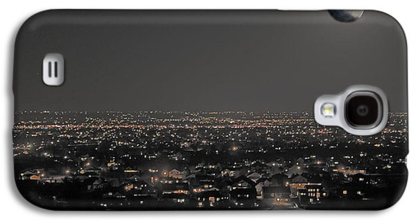 Fort Collins Digital Galaxy S4 Cases - Moon Over Fort Collins Galaxy S4 Case by David Kehrli