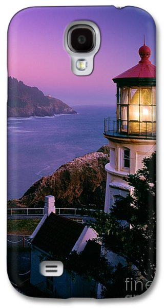 North America Galaxy S4 Cases - Moon over Heceta Head Galaxy S4 Case by Inge Johnsson