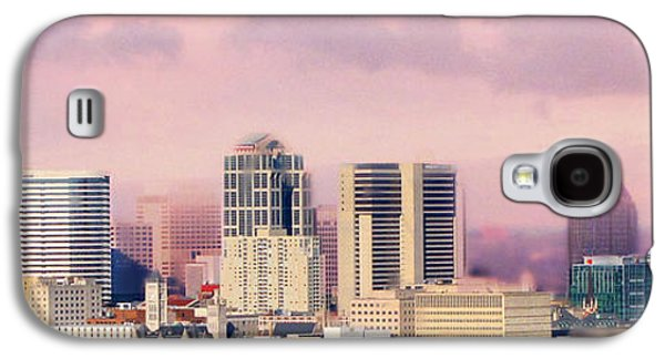 Nashville Galaxy S4 Cases - Moon Over Nashville Galaxy S4 Case by Amy Tyler