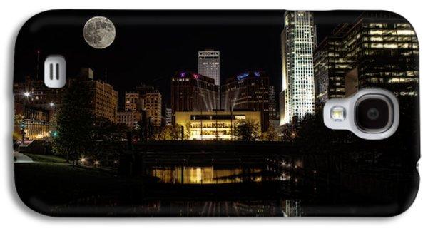 Jeff Swanson Galaxy S4 Cases - Moon Over Omaha Galaxy S4 Case by Jeff Swanson