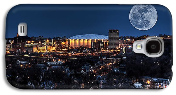 Basketballs Galaxy S4 Cases - Moon Over the Carrier Dome Galaxy S4 Case by Everet Regal