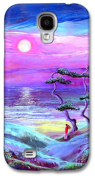 Moon Pathway,seascape Galaxy S4 Case by Jane Small