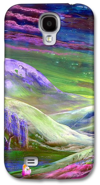 Dreamscape Galaxy S4 Cases - Moon Shadow Galaxy S4 Case by Jane Small