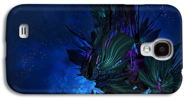 Phantasie Galaxy S4 Cases - Moon Tree Hills Galaxy S4 Case by Cassiopeia Art