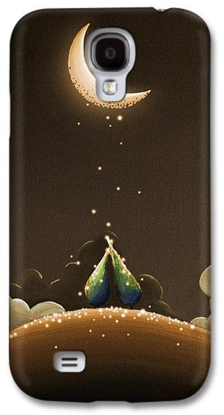 Moon Galaxy S4 Cases - Moondust Galaxy S4 Case by Cindy Thornton
