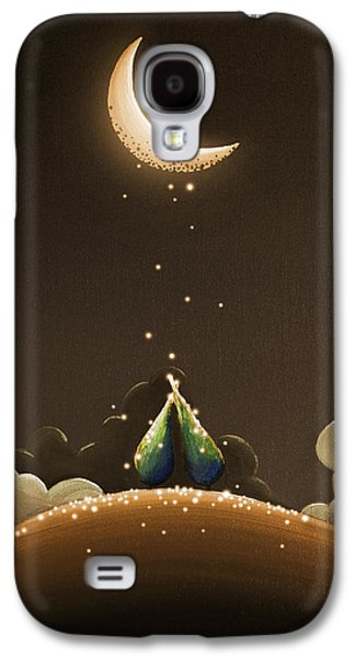 Moon Paintings Galaxy S4 Cases - Moondust Galaxy S4 Case by Cindy Thornton