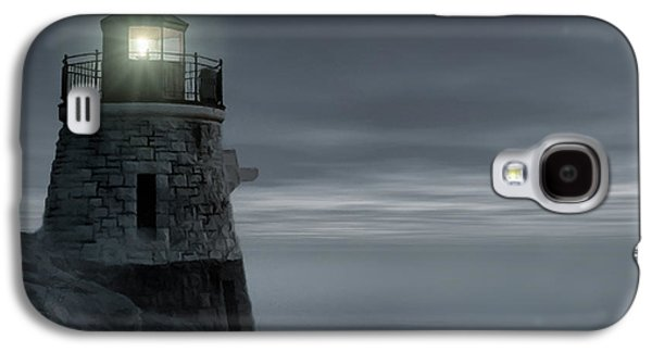 New England Ocean Galaxy S4 Cases - Moonlight at Castle hill Galaxy S4 Case by Lourry Legarde