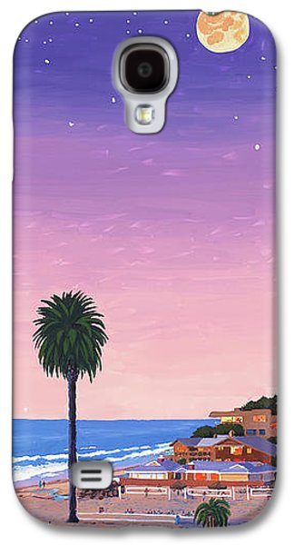 Volley Galaxy S4 Cases - Moonlight Beach at Dusk Galaxy S4 Case by Mary Helmreich
