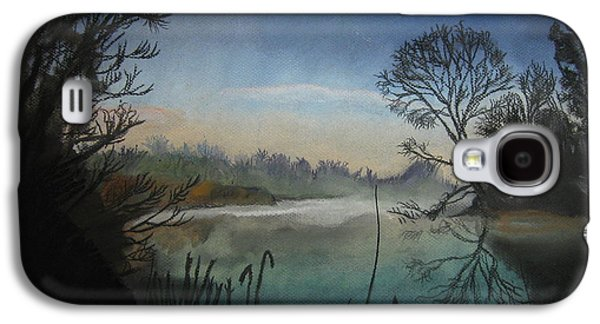 Fog Mist Pastels Galaxy S4 Cases - Moonlight Feels Right Galaxy S4 Case by Mike Benton