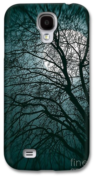 Creepy Galaxy S4 Cases - Moonlight Forest Galaxy S4 Case by Carlos Caetano