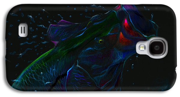 Transportation Pastels Galaxy S4 Cases - Moonlight Mouth  Galaxy S4 Case by Yusniel Santos