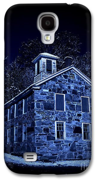 Stone Buildings Galaxy S4 Cases - Moonlight on the Old Stone Building  Galaxy S4 Case by Edward Fielding