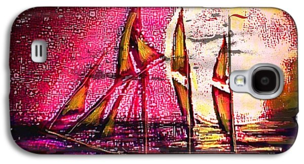 Best Sailing Photos Galaxy S4 Cases - Moonlight passage Galaxy S4 Case by Larry Lamb