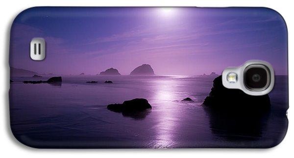 Sea Moon Full Moon Galaxy S4 Cases - Moonlight Reflection Galaxy S4 Case by Chad Dutson
