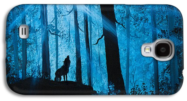 Recently Sold -  - Bob Ross Paintings Galaxy S4 Cases - Moonlight Serenade Galaxy S4 Case by C Steele