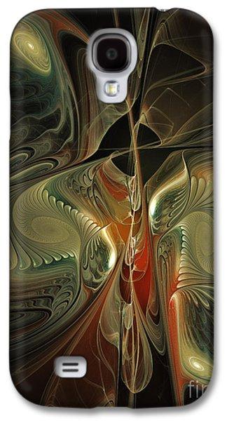 Contemplative Digital Galaxy S4 Cases - Moonlight Serenade Fractal Art Galaxy S4 Case by Karin Kuhlmann