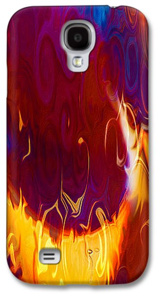 Abstract Digital Mixed Media Galaxy S4 Cases - Moonlight Serenade I Galaxy S4 Case by Omaste Witkowski