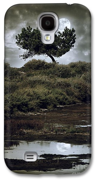 Creepy Galaxy S4 Cases - Moonlight Swamp Galaxy S4 Case by Carlos Caetano