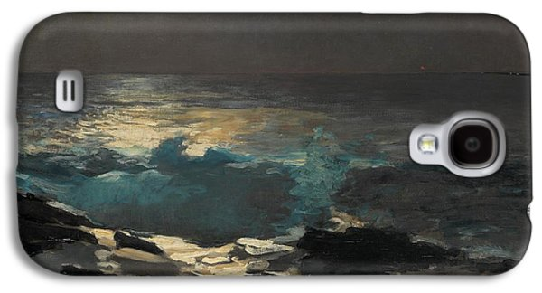 Maine Landscapes Paintings Galaxy S4 Cases - Moonlight Wood Island 1894 Galaxy S4 Case by Winslow Homer