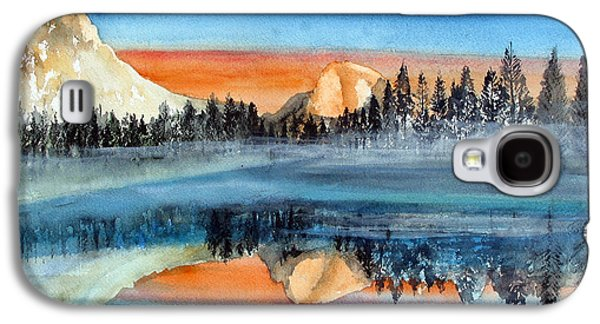 El Capitan Paintings Galaxy S4 Cases - Moonlight Yosemite Galaxy S4 Case by Rob Beilby