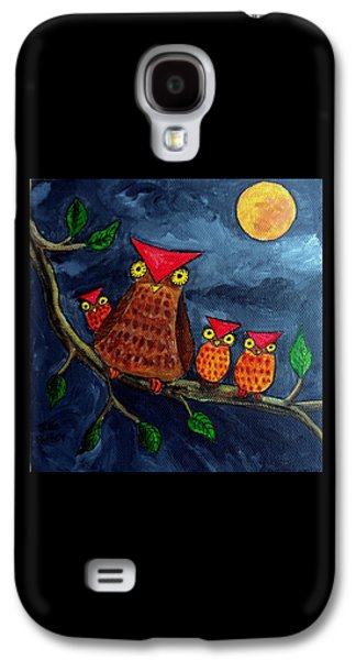 Group Of Birds Paintings Galaxy S4 Cases - Moonlighting Galaxy S4 Case by Julie Brugh Riffey