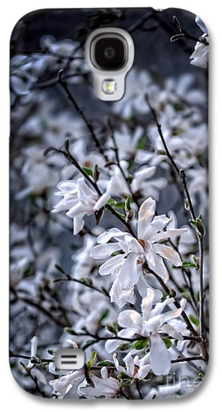 Moonlit Night Photographs Galaxy S4 Cases - Moonlit Blossoms Galaxy S4 Case by HD Connelly