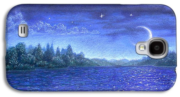 Skylines Pastels Galaxy S4 Cases - Moonlit Lake Galaxy S4 Case by Michael Heikkinen