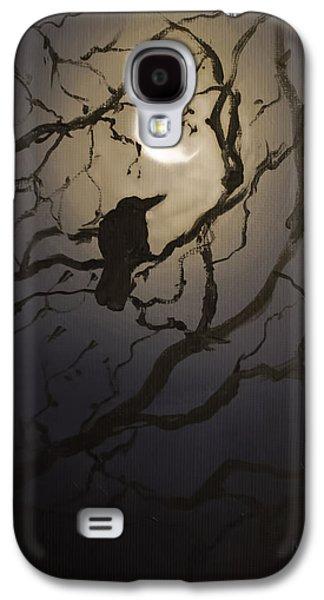 Creepy Galaxy S4 Cases - Moonlit Perch Galaxy S4 Case by Melissa Herrin