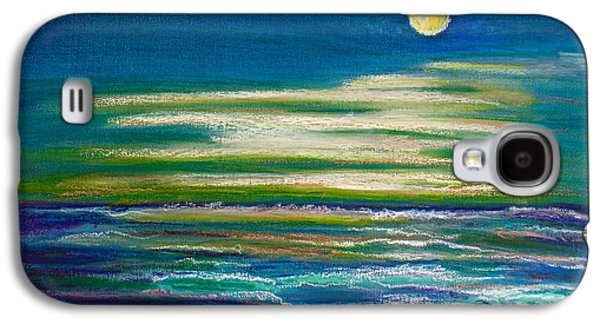Beach Landscape Pastels Galaxy S4 Cases - Moonlit Tide Galaxy S4 Case by D Renee Wilson