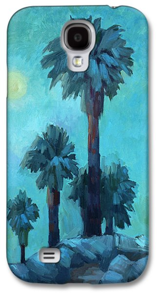 Moonrise Galaxy S4 Cases - Moonrise and Palms Galaxy S4 Case by Diane McClary