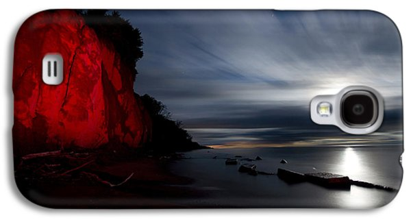 Beach Landscape Galaxy S4 Cases - Moonrise at Clearville Beach Galaxy S4 Case by Cale Best